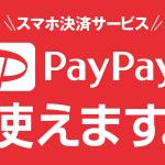 PayPay使えるようになりました!