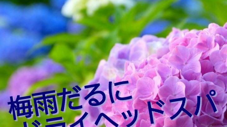 梅雨こそ、ドライヘッドスパでスッキリ爽快!!