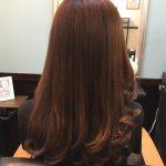 女性常連様 ツヤカラー巻き髪