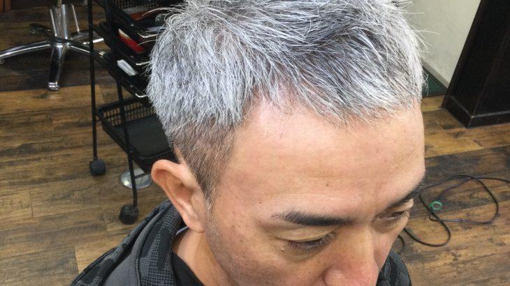 【男前カット】メンズが似合うヘアカタログ Vol.115 白髪を刈り上げで男前