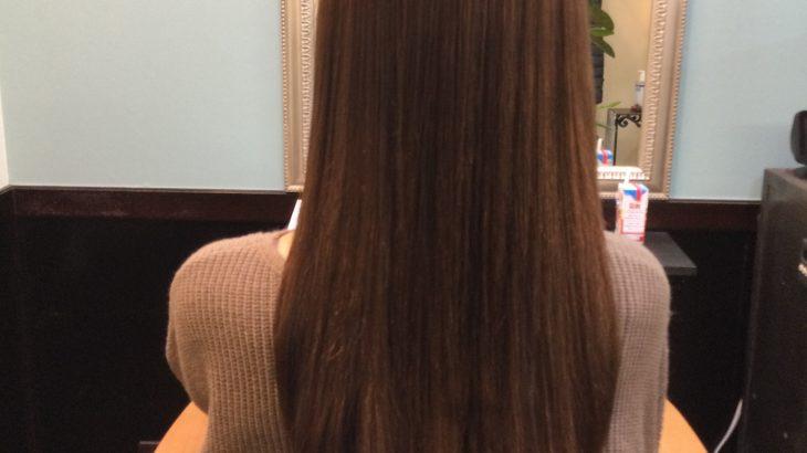 女性常連様 縮毛矯正とカラーチェンジコーティング