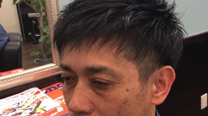 男前カット&白髪ぼかしで若々しい自分を取りもでせます。