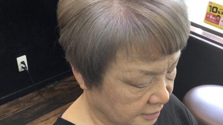 女性常連様 明るいヘアカラー