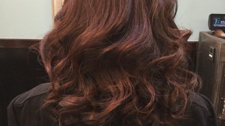 女性常連様 ゴージャスな巻き髪