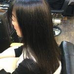 女性常連様 縮毛矯正とカラーリング