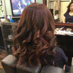女性常連様 カラーチェンジコーティング+巻き髪